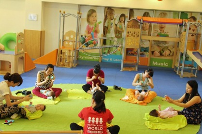 HOW A NEWBORN LEARNS AND GROWS IN GYMBOREE CLASS?