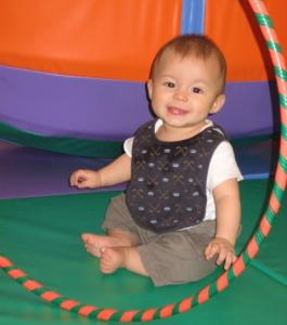 Any challenging at Gymboree is fun for Gregory!