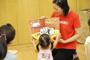 Story time at Gymboree Class